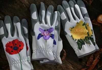 Blumen-Handschuhe