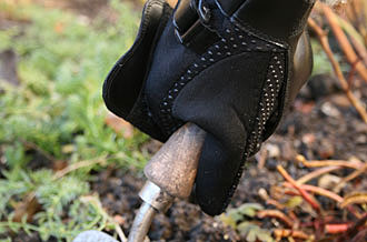 Festhalte-Handschuh